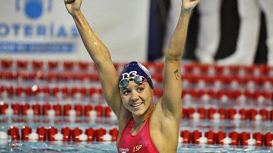 Cata Corró anima a España en la primera jornada del Europeo de natación