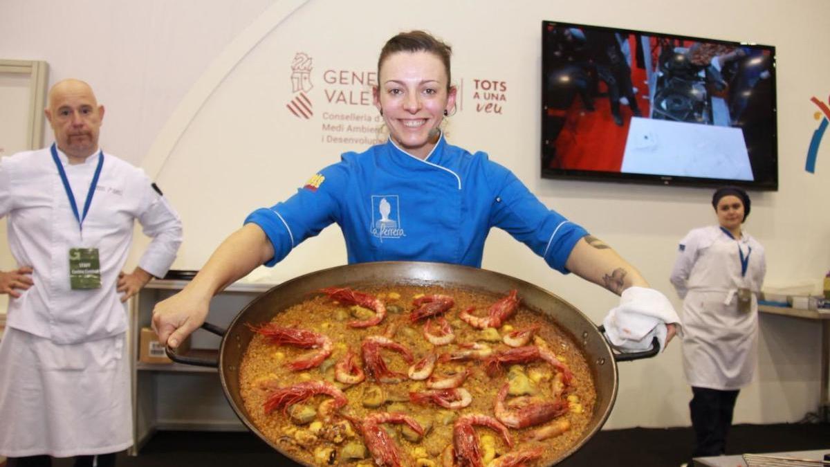 La chef Chabe Soler, ganadora de la primera edición del World Paella Cup.