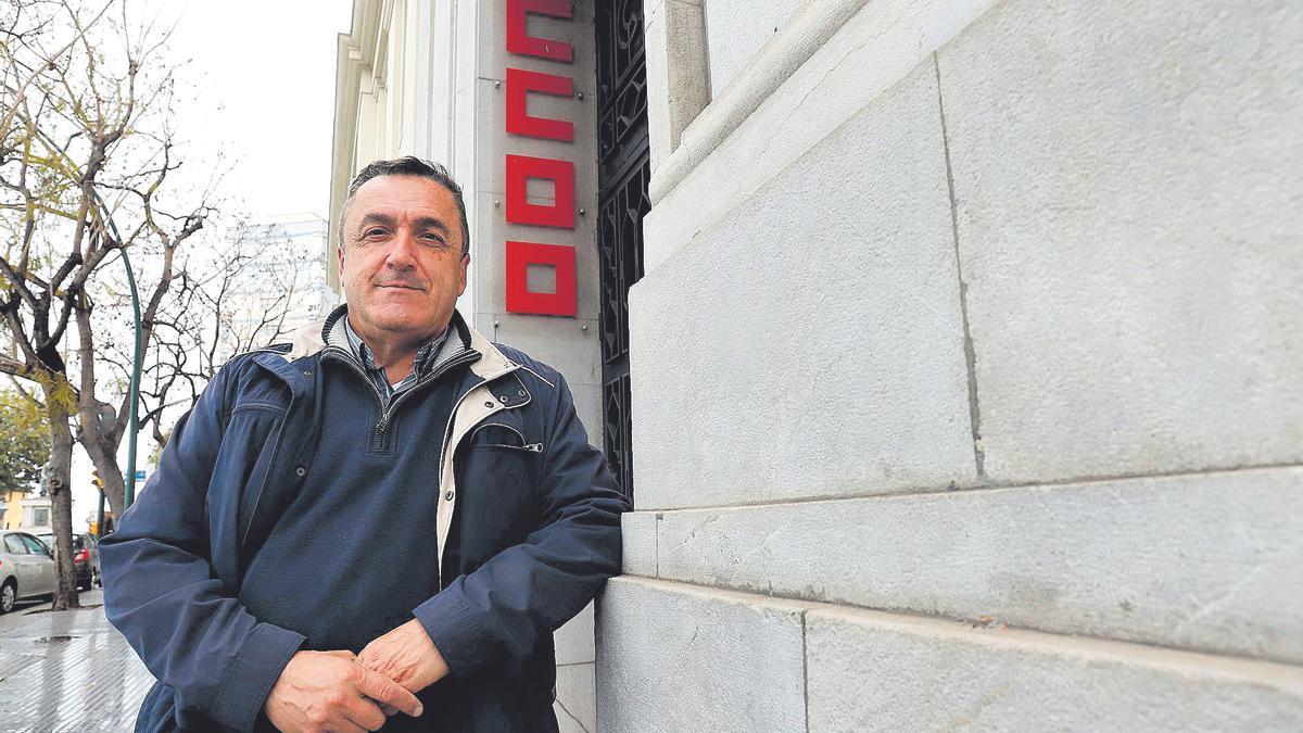 El secretario general de CCOO en Málaga, Fernando Cubillo