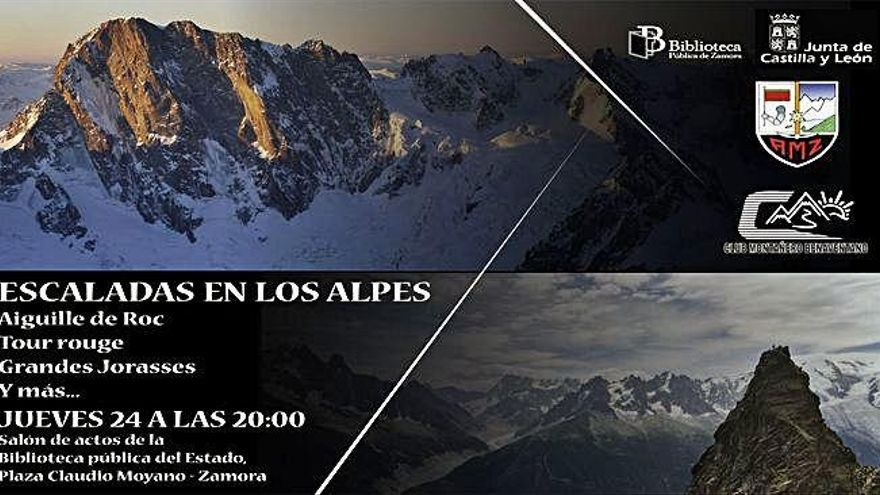 Varios montañeros zamoranos narrarán mañana sus escaladas en los Alpes