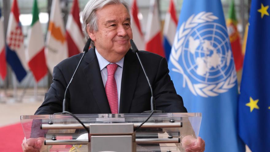 El secretario general de la ONU visita España y se reunirá con el Rey y Sánchez
