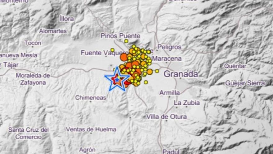 Un nuevo terremoto con epicentro en Chauchina se deja notar en la Axarquía y la capital