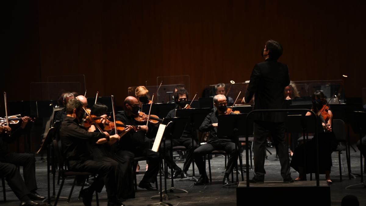 Actuación de la Orquesta de Córdoba ayer jueves.