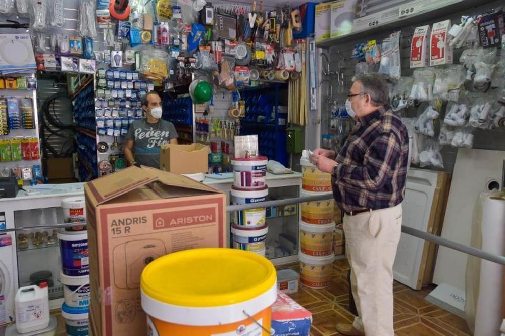 Reapertura de comercios en las calles de Telde