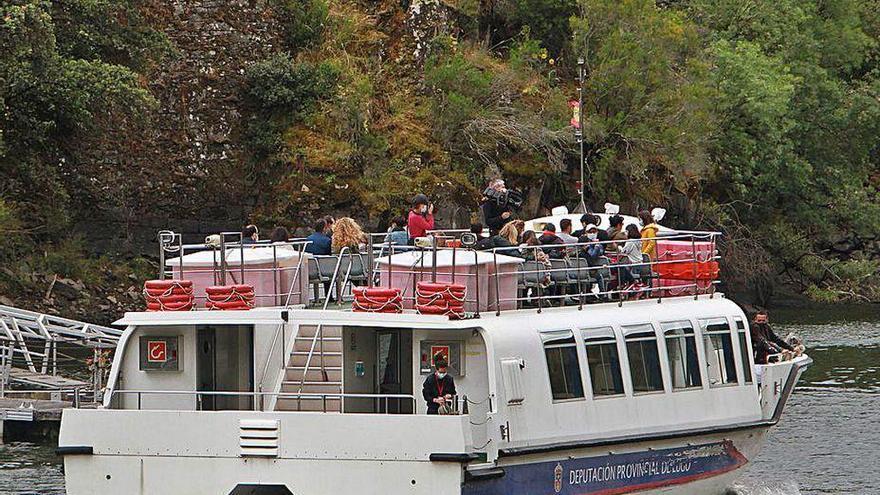 El catamarán vuelve a la Ribeira Sacra