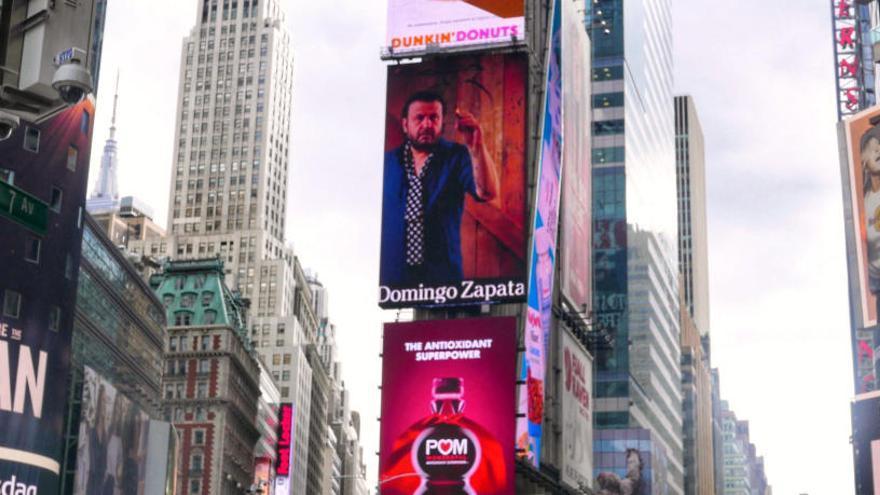 Un artista español radicado en EEUU se apodera de las pantallas de Times Square