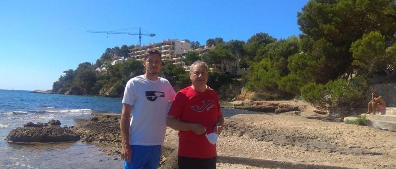 Pablo y Alfonso Carreño, recientemente, en Mallorca. | A. C.
