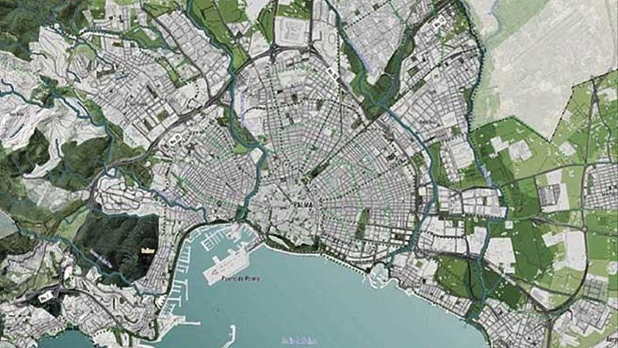 El nuevo Plan General casi duplica la superficie de zonas verdes por habitante