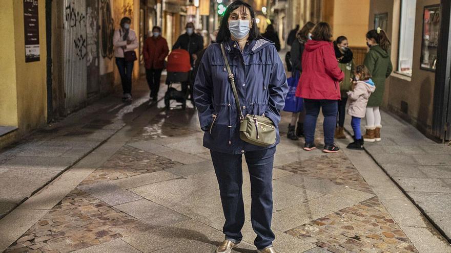 La enfermera zamorana en la redacción de LA OPINIÓN. | Nico Rodríguez
