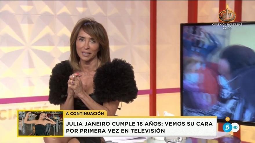 """Maria Patiño se ve obligada a parar su programa Socialité en directo: """"No puedo seguir"""""""