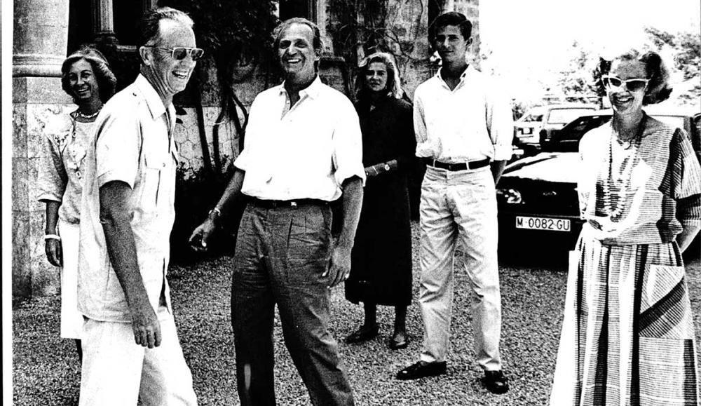 Don Juan Carlos y doña Sofía junto a Balduino y Fabiola de Bélgica.