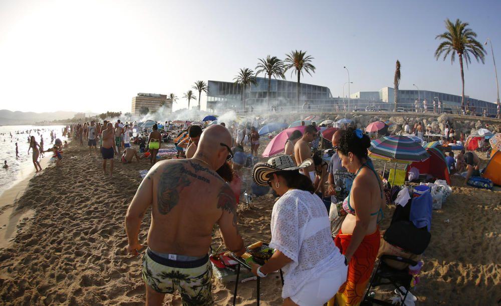 Mallorcas Johannisnacht an Palmas Stadtstränden