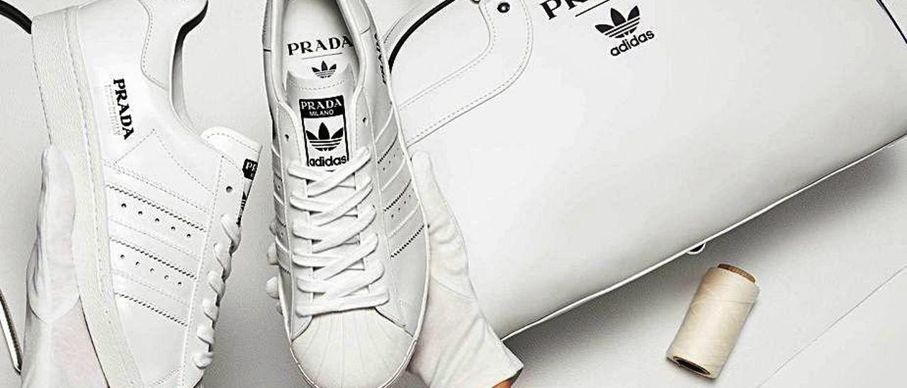 Productos de la colección de Adidas y Prada.