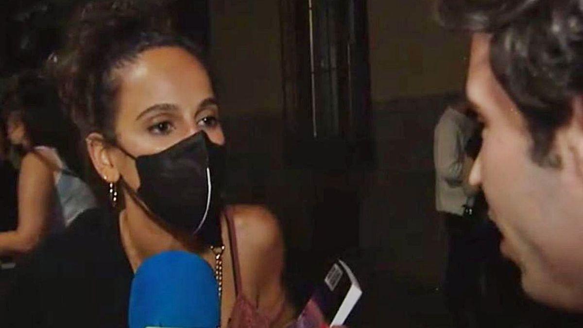 Captura del vídeo en el que aparece Chela Santalla.