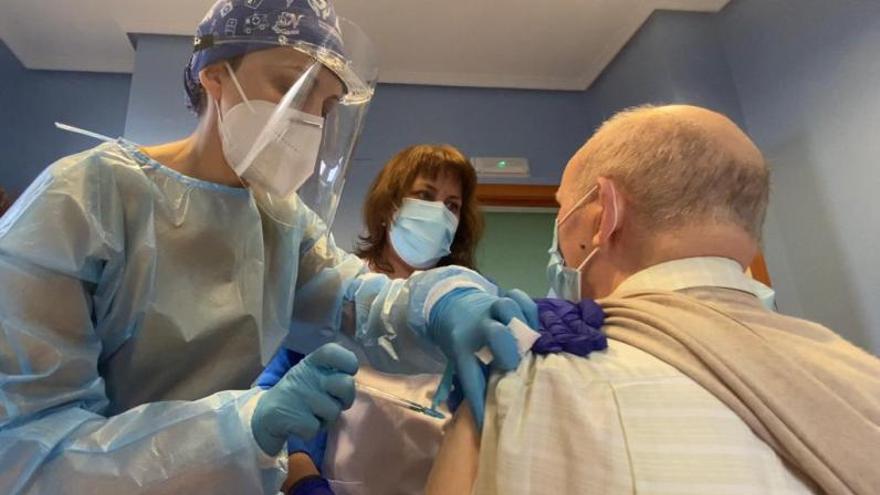 En primera línea de la vacunación en Galicia