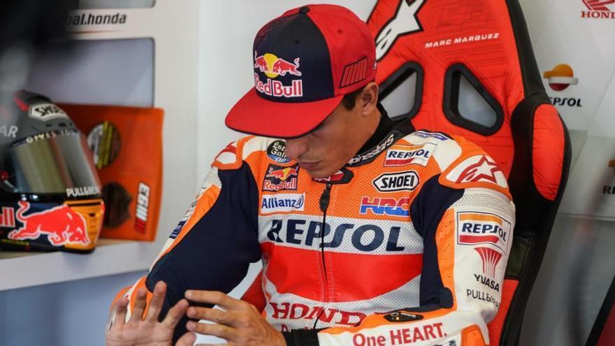Márquez se despide del título de MotoGP por la lesión