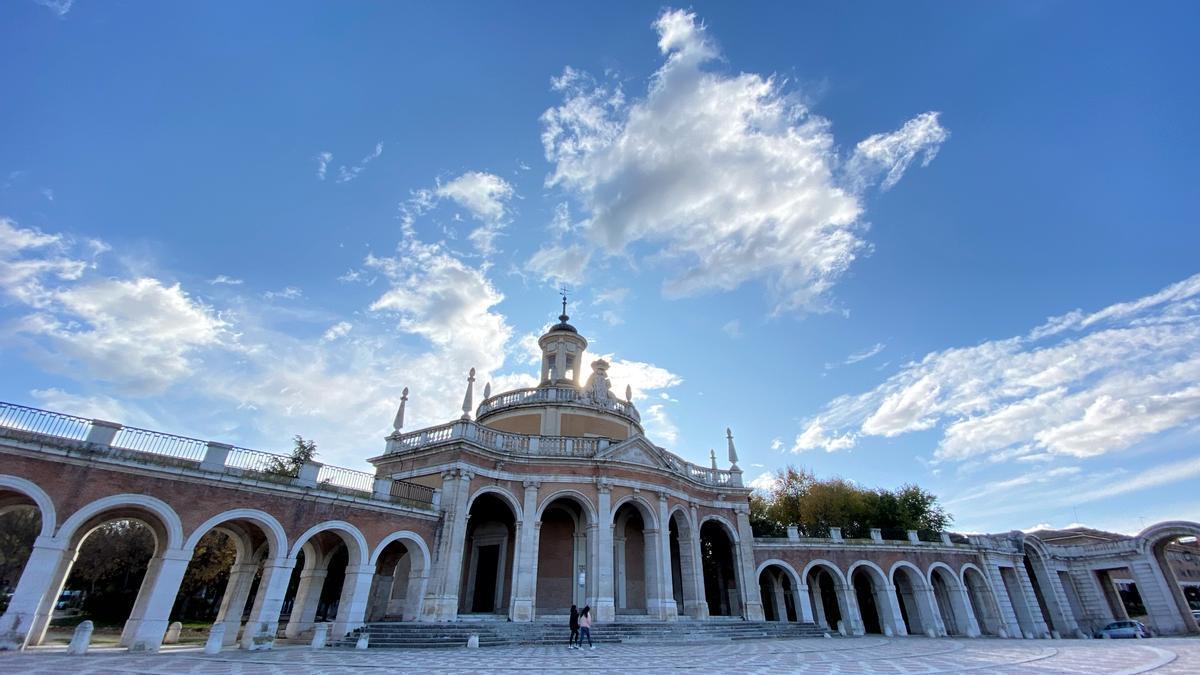Facade of the Church of San Antonio de Padua, a baroque style building, in Aranjuez