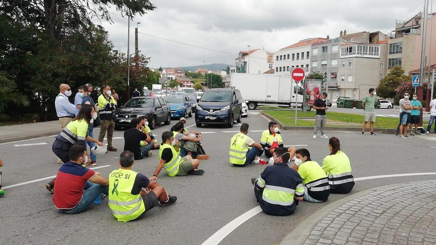 Los trabajadores de Ence colapsan el centro de Pontevedra