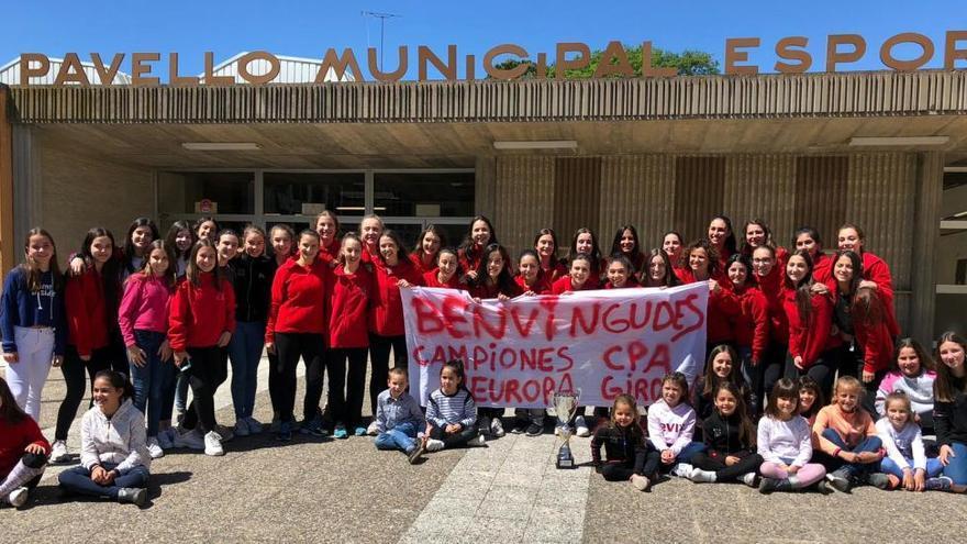 El CPA Girona rep una càlida rebuda a Palau després del seu èxit europeu