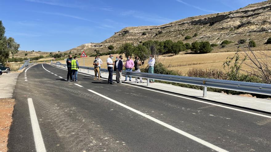 La carretera de Fuentelcarnero, más ancha gracias a los 800.000 euros de la Diputación de Zamora