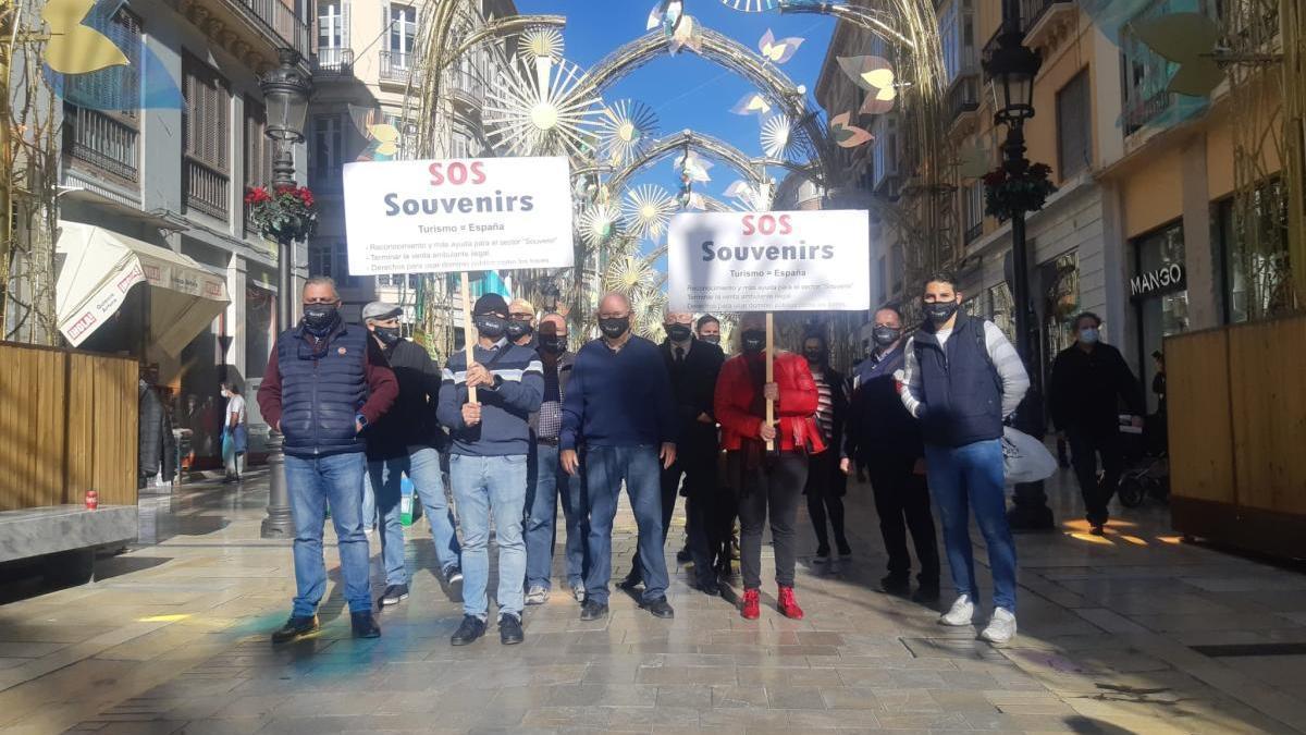 Protesta en la calle Larios.
