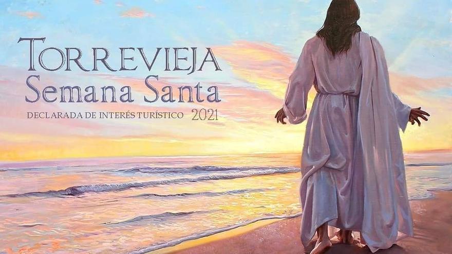 Imagen del cartel anunciador de la Semana Santa de 2021 de Torrevieja