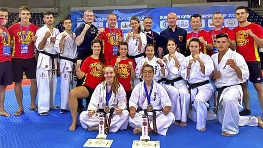 La alzireña Maria Adrià consigue  un bronce en el europeo de karate