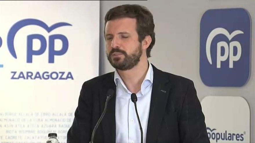 """Pablo Casado insiste en que los PGE son """"antisociales"""" y """"nos llevan a la ruina"""""""