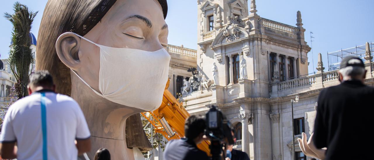 El remate de la falla municipal de 2020 con mascarilla