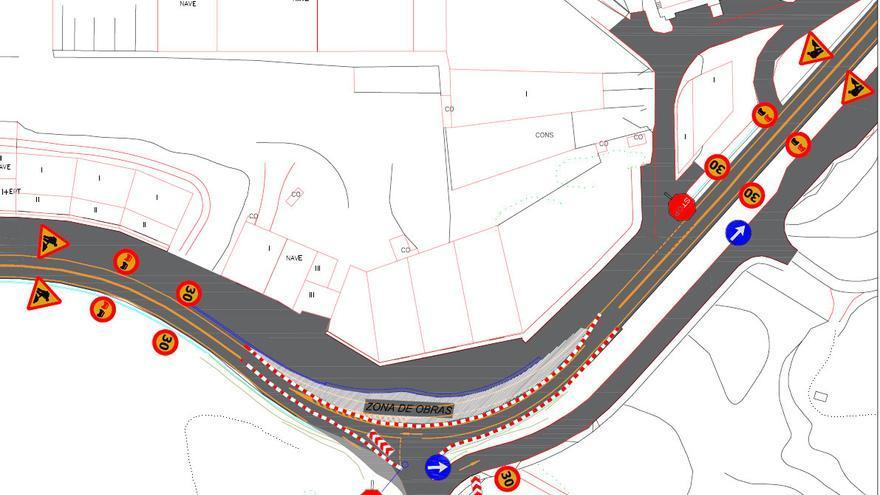 Desvío y cortes puntuales de tráfico en la carretera AC-552 en Arteixo por obras de mejora de la seguridad vial