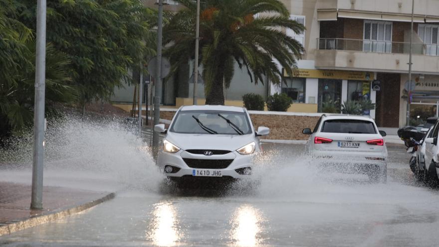Imágenes de la lluvia en Ibiza
