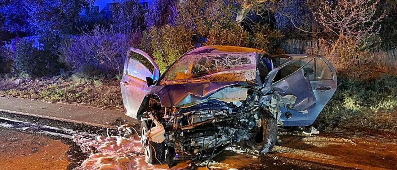 Accidente de tráfico mortal en Formentera que tuvo lugar este martes.