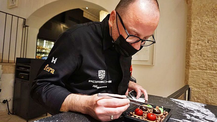 Simon Petutschnig presenta el nuevo menú del restaurante Fera de Palma