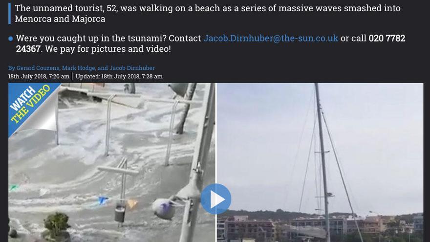 'Rissaga' en catalán se traduce como 'mini-tsunami' en medios internacionales