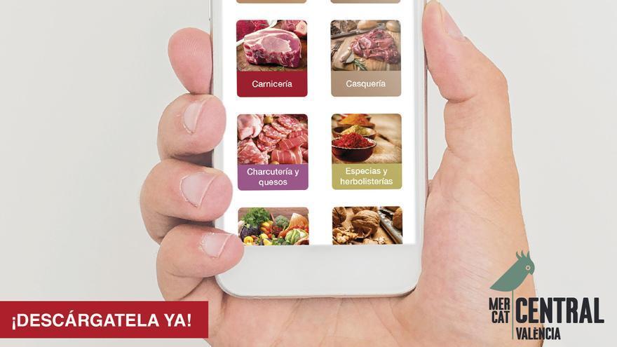 El Mercado Central inaugura un servicio de pedidos mediante App