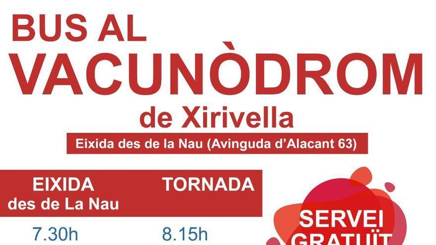 Silla habilita un autobús directo al centro de vacunación de Xirivella