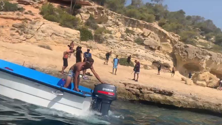 El patrón de la patera de Portals Vells desembarca a los migrantes en Mallorca y se vuelve a su país