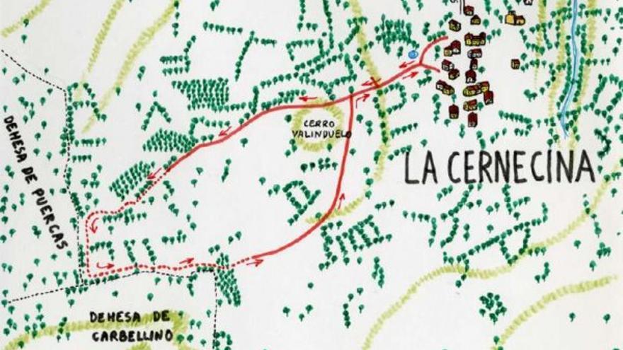 A la raya de las dehesas desde La Cernecina