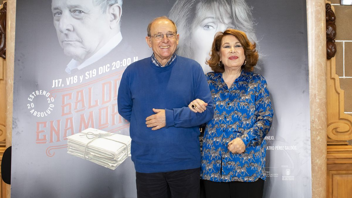 Emilio Gutiérrez Caba y María José Goyanes en el Teatro Pérez Galdós.