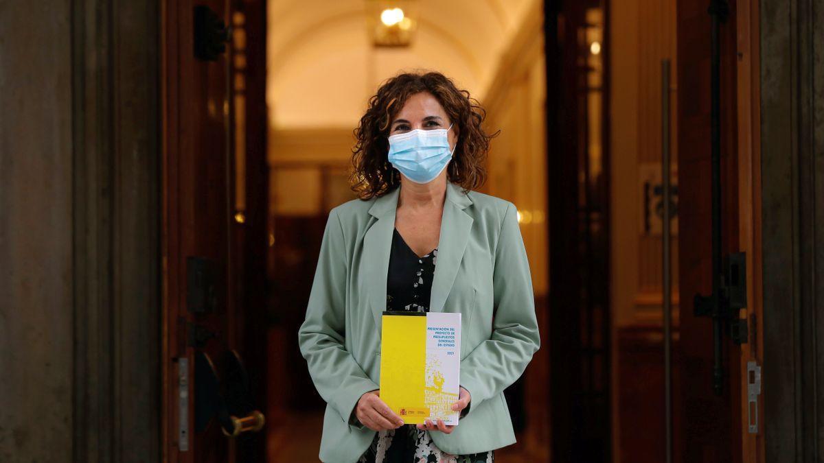 María Jesús Montero, hoy en el Congreso.