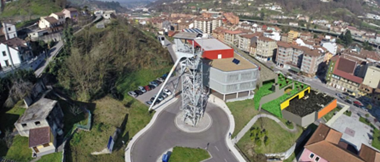Recreación virtual de las nuevas instalaciones, ubicadas a la derecha, con el pozo Entrego en primer término.