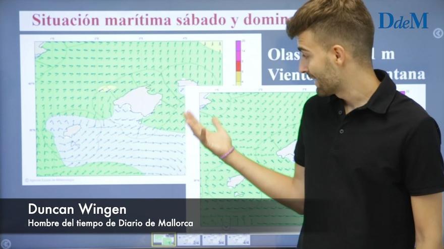 El tiempo del fin de semana en Mallorca: Descenso térmico