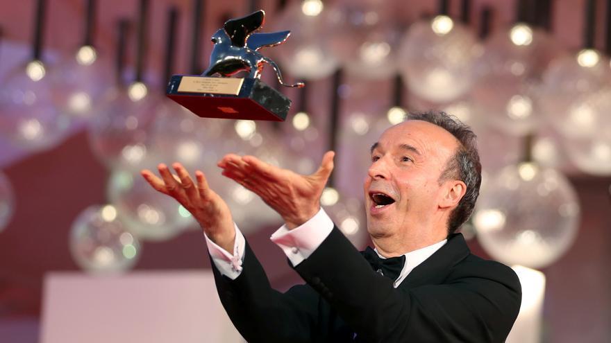 Roberto Benigni recibe en Venecia el León de Oro de honor