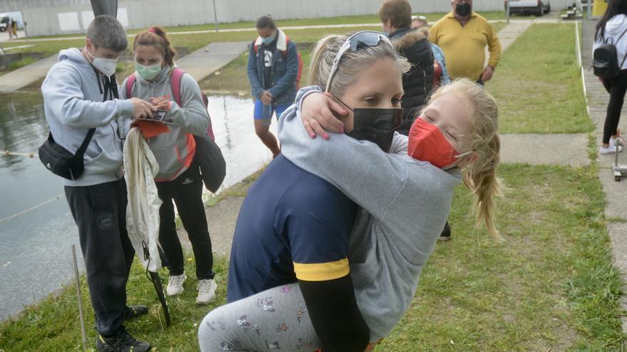Teresa Portela, exultante tras sellar su sexto billete olímpico