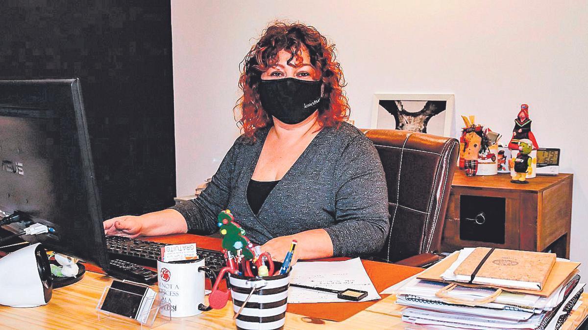 Paki Campos, presidenta de la Asociación de Empresarios del Comercio de Cáceres (Aeca), en una foto de archivo.