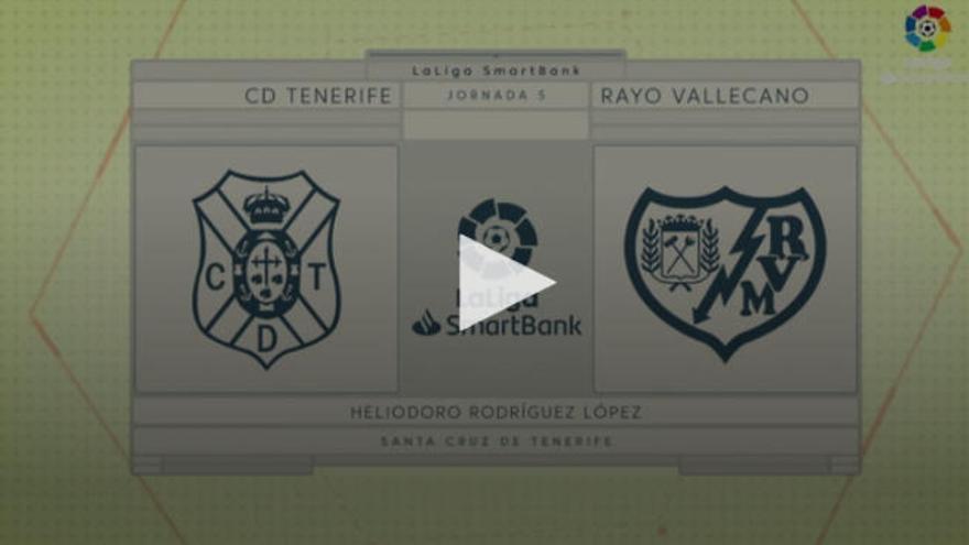 Vídeos del CD Tenerife - Rayo Vallecano