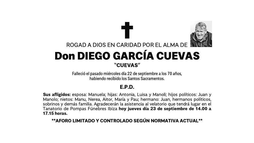 Esquela Diego García Cuevas