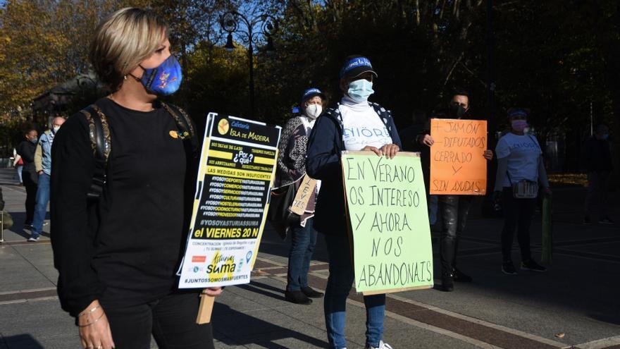 Protestas de la hostelería en Gijón