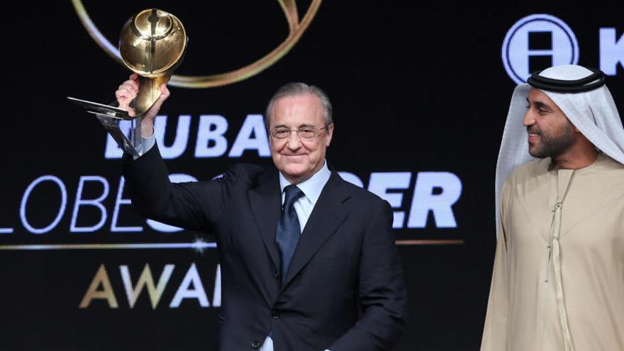 Cristiano, Florentino Pérez y el Real Madrid, premiados en los Globe Soccer