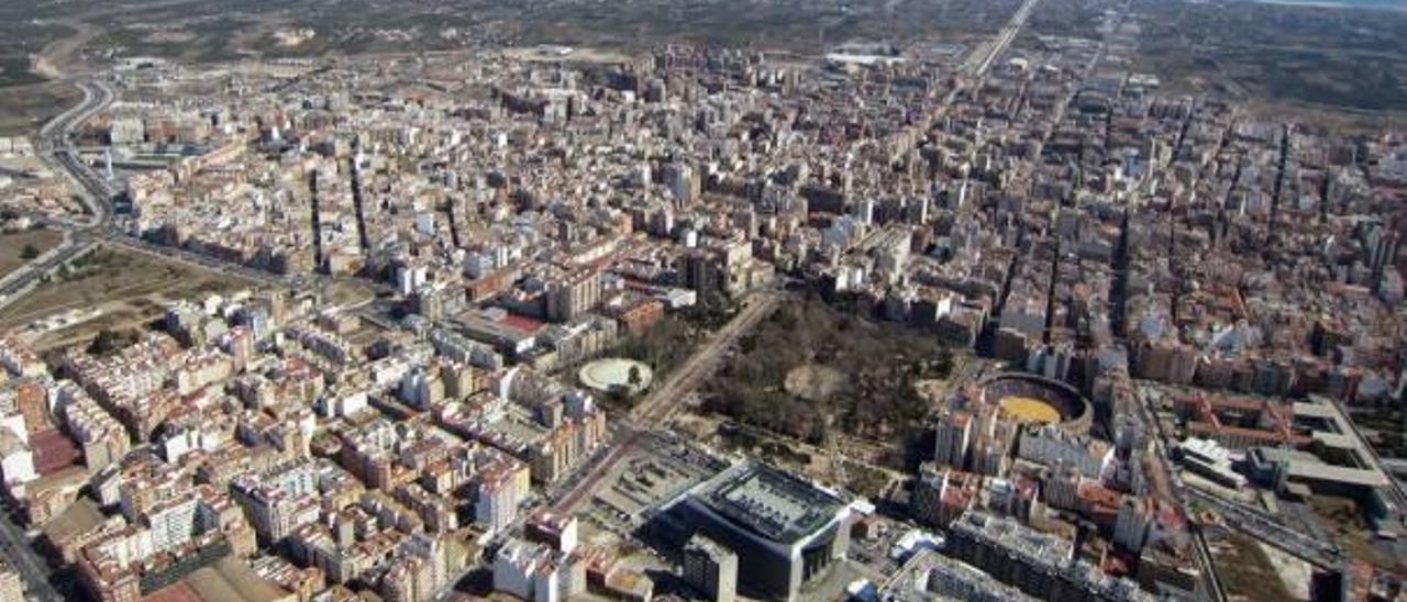 Vista aérea de la capital de la Plana.